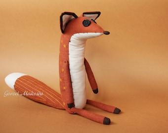 25 cm The  LITTLE PRINCE FOX - sale - 41 usd not 51 - original plush little toy - The serie Prince