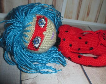 St. Patrick's day toys for baby ladybug toy amigurumi doll crochet lady toy art stuffed animal doll collection doll amigurumi doll