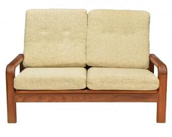 Milieu du siècle-2 places canapé-teck-vente... non disponible