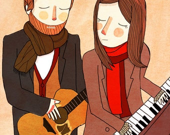 Falling Slowly - Illustration Print