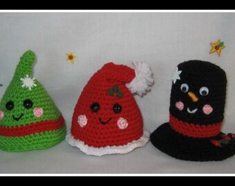 Christmas Happy Hats Crochet Pattern