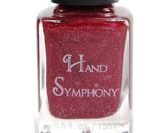 Classy Lady-Red Nail Polish,Holographic Nail Polish,Red Nail Polish,Red Glitter Polish,Glitter Polish,Vegan Nail Polish,5 Free Nail Polish