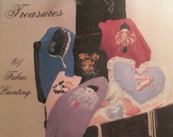 "Vintage Craft Booklet of "" Trudy's Treasures""   How to fabric painting book 1986   used 34 pages"