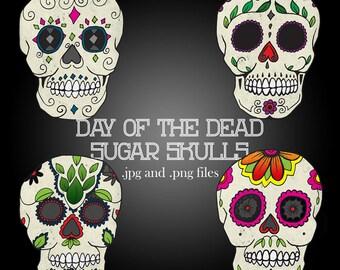 Day of the Dead Sugar Skull Clip Art