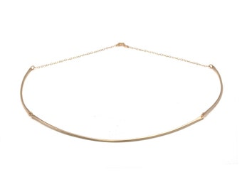 Stacy, 14kt Gold Filled or Sterling Silver Collar Necklace