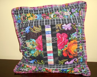 SC85 1 Guatemalan Huipil Pillow Cover from Chichicastenango, Quiché