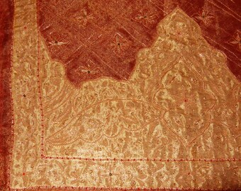 Vintage Indian Tissue silk Zari Brocade Saree Sari, 5 3/4 yds x 42 inches (sari 5)