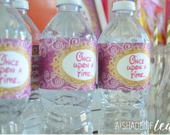 Disney Princess Water Bottle Labels // INSTANT DOWNLOAD // Party Decor // Printable, Digital