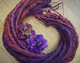 Fée redoute ensemble Auburn et violet