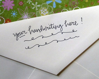 Handwritten Address Stamp (in your writing!)