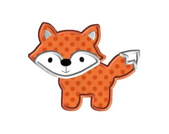 Fox II Applique Machine Embroidery Design-INSTANT DOWNLOAD