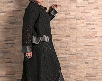 """Jacket """"Blacky"""" noir, soir, gris, satin, XL,plus size,xxl"""