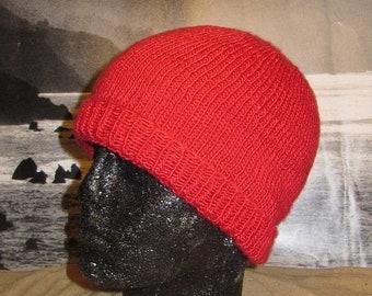 HALF PRICE SALE Instant Digital File pdf download knitting pattern only madmonkeyknits Simple Silk Beanie hat pdf knitting pattern