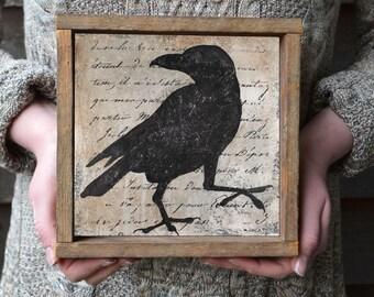 Raven, Wall Art, Black Crow, Raven Art Print, Black Crow Painting, Raven Print, Raven Wall Art, Blackbird Print, Crow Print, Bird Art