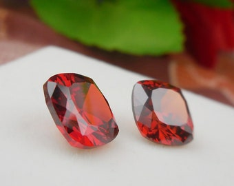 Attractive Champagne Zircon Pair 11. ct. Fabulous Cusion Design Earring Set Size 9x9x5 mm
