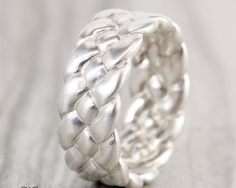 Braided Weave Silver Band