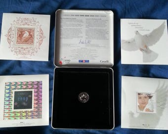 Millennium Stamp and Coin Keepsake From Canada Post