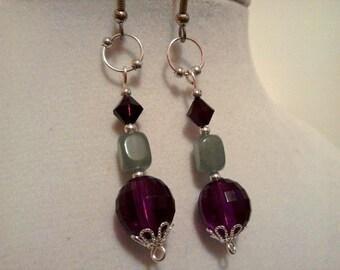Fuschia Bubble Earrings