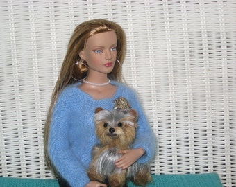 Doll Pet / Needle Felted Dog /Custom Miniature Sculpture of your pet / Cute / Yorkie / Small size