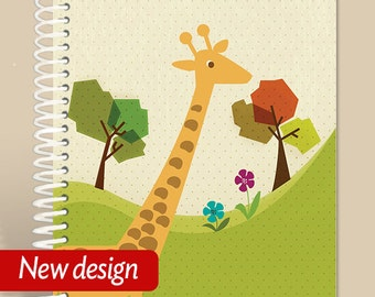 Giraffe Notebook - Personalized Journal