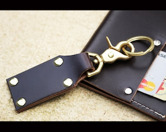Leather key fob - leather keychain
