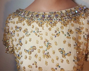 FREE  SHIPPING   Vintage Malcolm Starr  Gown
