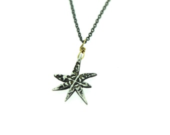 sale silver star necklace . bohemian star necklace pendant . petite alchemy talisman necklace by peacesofindigo . ready to ship