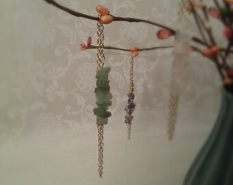 Stone Chip Bracelet, Green and Gold