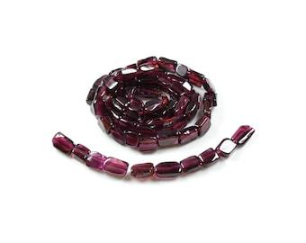 10 Rectangle India natural red garnet irregular beads approximately 6-8mm LBP00581
