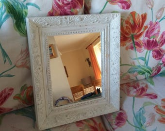 Vintage Painted Shabby Chic Mirror Cream