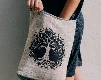 Healing Roots Hemp Blend Messenger Bag