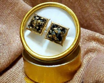 Orgonite ® cuff buttons VITAWunder in gold