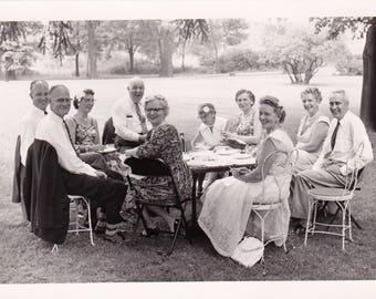 Tea on the Lawn - Found Photograph, Photography, Snapshot, Old photo, Vintage Photo, Family Photograph