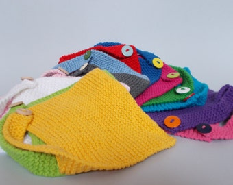 Garter Stitch Bibs (one strap)