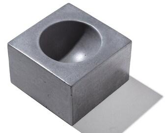 MICRO ORB Charcoal Concrete Bowl / Mens ring holder / Women's Ring Holder / Ring Bowl / Jewelry Holder