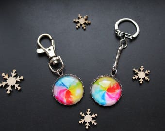 Key ring or jewelry colorful bag *.