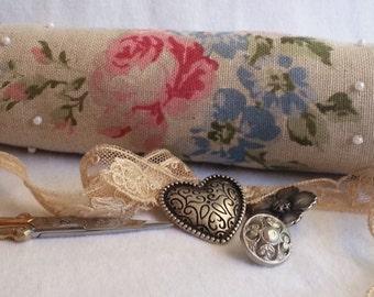 Victorian Floral Sachet, Victorian Sachet, Floral Sachet, Beaded Sachet, Beaded Victorian Sachet, Floral Beaded Sachet, Vintage-style Sachet