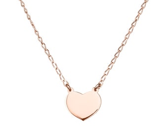 Heart necklace, Delicate necklace, Rose gold heart necklace, Everyday necklace, Bridesmaid gift, Bridesmaid necklace