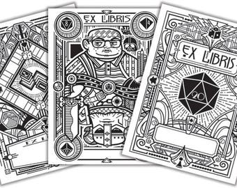 Board Game Bookplates - Variety Set
