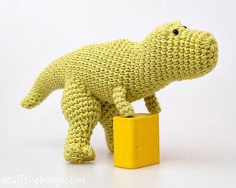 Tyrannosaurus Rex Dinosaur Crochet Pattern, T-Rex Amigurumi Pattern, toy pattern, baby shower, birthday present, for boys, montessori
