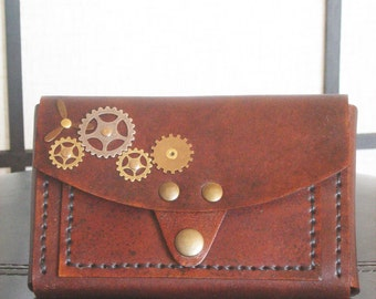 Steampunk Sci Fi Industrial Leather IPhone6 Belt Pouch Case Wallet