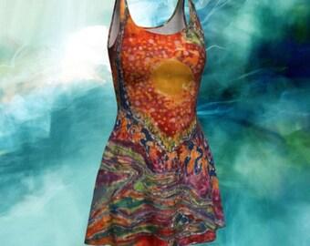 Sunlight Batik Fit and Flare Dress - Awaken Batik