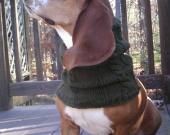Big Dog Cowl- Basset Hound Snood- Dog Neck Warmer- Knit Dog Scarf- Big Dog Neckwarmer- Large Dog Clothes- Pet Scarf Knit- Dog Muffler Big