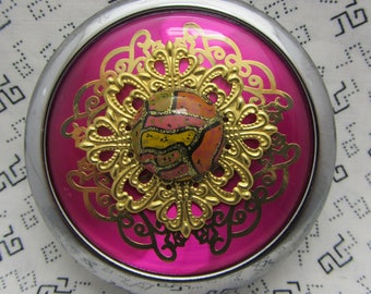 Compact Mirror Party Pink Comes With Protective Pouch Gift For Her