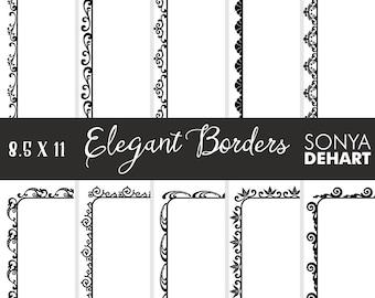 80% OFF SALE Clipart Elegant Doodle Borders and Frames  Clip Art CA213