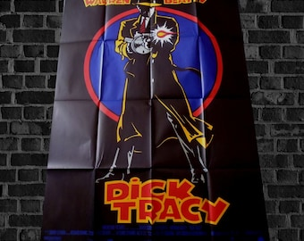 vtg Fr poster original DICK TRACY