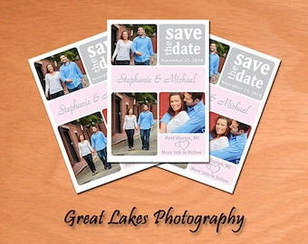 Personalized Save The Date Postcard - Digital File