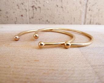 Brass Stacking Cuff // Bull Cuff // Brass // Minimalist Cuff