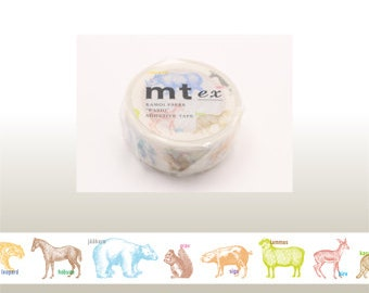 mt ex - washi masking tape - animals