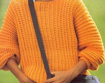 PDF Women Crochet Sweater Pattern /Women Sweater Pattern/Size 30-38 Bust